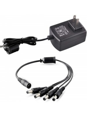 FC 12V 2A 100v-240V Security CCTV Camera Power Adapter With 4-Way Power Splitter Cable