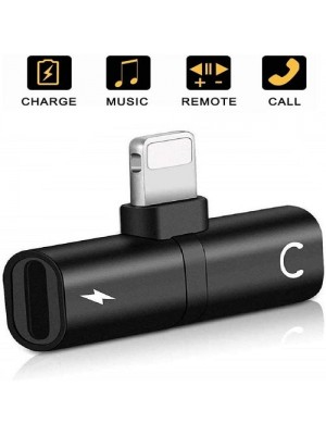 St Alexandria's Dual Jack AUX Audio & Charging & Calling & Sync Cable Connector For IOS Devices