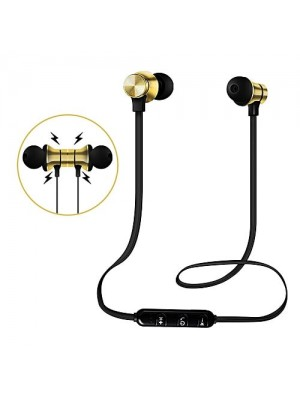 Xtacy Wireless Bluetooth Headset With Magnetic In-ear Earbuds