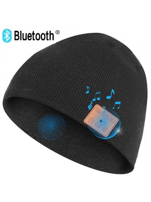HT Fashion Upgraded Bluetooth Beanie Hat Wireless Headphone
