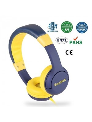 Easysmx Kids Headset With Volume Control Headphones For Tablet, iPad, iPod & iPhone