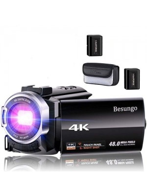 HDE 4k Ultra HD 48MP Digital Video Vlogging WIFI Camcorder With Wide Angle Lens
