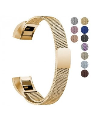 Replacement Milanese Loop Stainless Steel Metal Strap For Fitbit Alta - Gold