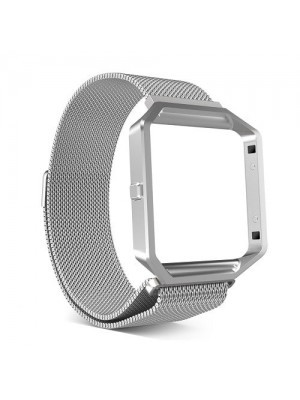 CE Milanese Loop Replacement Band Stainless Steel With Metal Frame For Fitbit Blaze