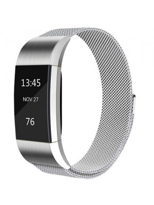 """LT Stainless Steel Replacement Band With Magnet Lock Strap For Fitbit Charge 2 - 5.11""""-8.26"""""""