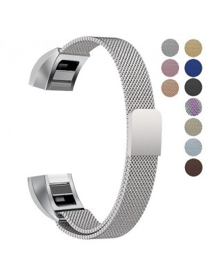Stainless Steel Metal Replacement Bracelet Strap For Fitbit Alta - Grey