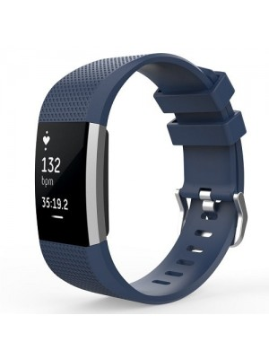 Replacement Soft Silicone Band For Fitbit Charge 2-Midnight Blue