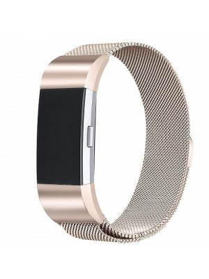 Replacement Stainless Steel Milanese Band For Fitbit Charge 2 Large - Champagne Gold
