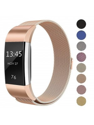 """Replacement Milanese Steel Metal Band For Fitbit Charge 2 - Small Size 5.5""""-8.5"""""""