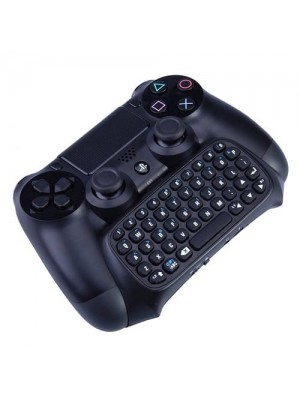 Bluetooth Mini Wireless Message Chatpad for PS4 Controller - Black