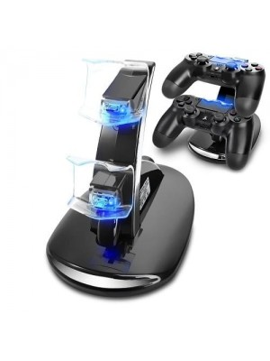 Dual USB Charging Charger Docking Station Stand for Playstation Controller