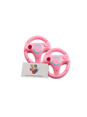 Wii U Wii Steering Wheel Peach Pink for Racing Games, Mario Kart Racing Wheels