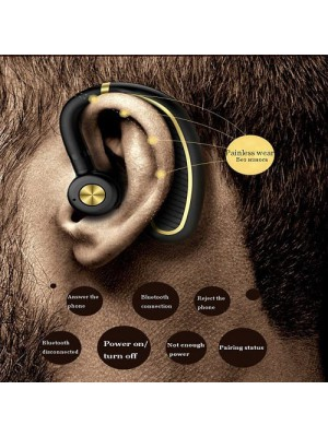 CE Business Wireless Headphone Super Long Standby Earpiece With Mic / Sweat-proof