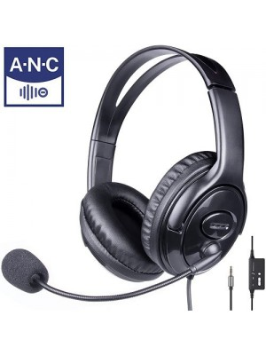 3.5mm Over Ear Call Center Computer Noise Cancelling Headphone With Mic