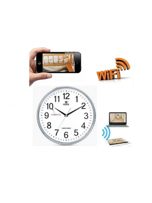 WIFI Wireless P2P Wall Clock Spy Camera With Motion Detection