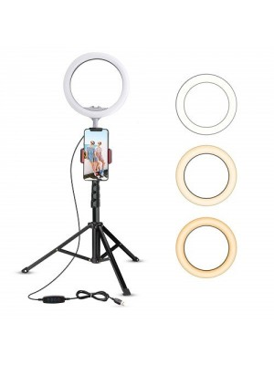 """9'"""" LED Camera Ring Light With Tripod Stand For Live Stream Youtube Video/Photography"""