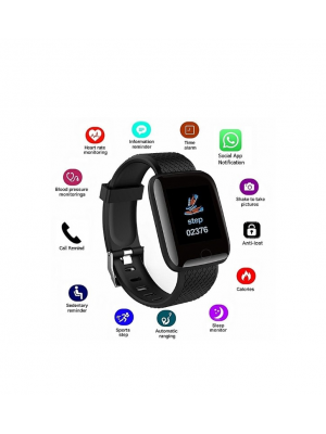 D13 1.3 Inch Oled Color Screen Smart Bracelet Watch Black