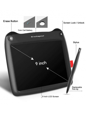 SUNLU LCD Writing Tablet, 9 Inch Electronic Drawing and Writing Board, Portable Handwriting Notepad, Ewriter, Gift for Kids and Adults, can use at Home,School and Office (Black)