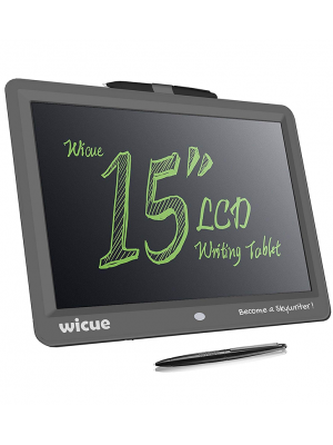 Xindda LCD Writing Tablet, Wicue 15 inch LCD Writing Tablet-Electronic Writing/Doodle/Drawing Board for Kids & Adults, Handwriting Paper Doodle Pad for School and Office
