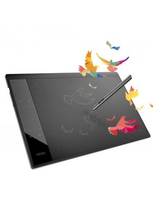 "Vkoo 10x6"" Graphics Drawing Tablet With Smart Gesture Touch & 4 Customized Hot Keys +Battery Free Pen"