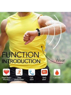 Heart Rate Monitor Fitness Tracker Smart Bracelet For Android IOS Phone