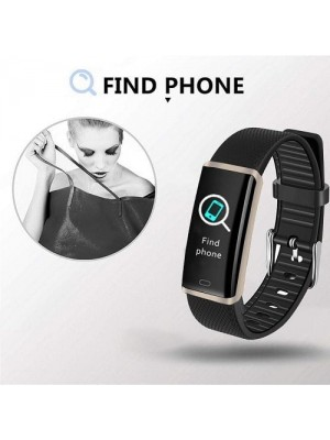 Fitness Activity Tracker Watch Band With Heart Rate Blood Pressure Monitor