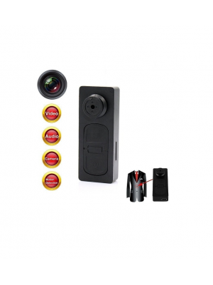 Button DVR Hidden Spy Camera Camcorder With Motion Detection