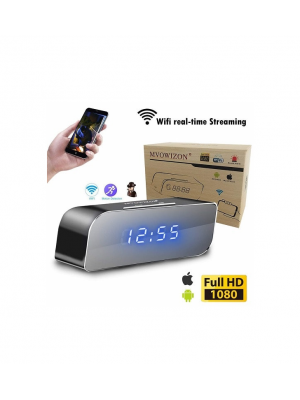 Hidden Alarm Clock Spy Video Recorder Security Camera With Motion Detection